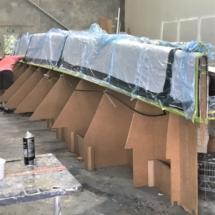 Main hull bottom bagged bow