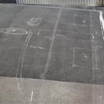 Mast base layout