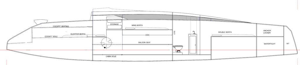 Port side cabin arrangement