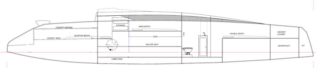 Port side cabin arrangement